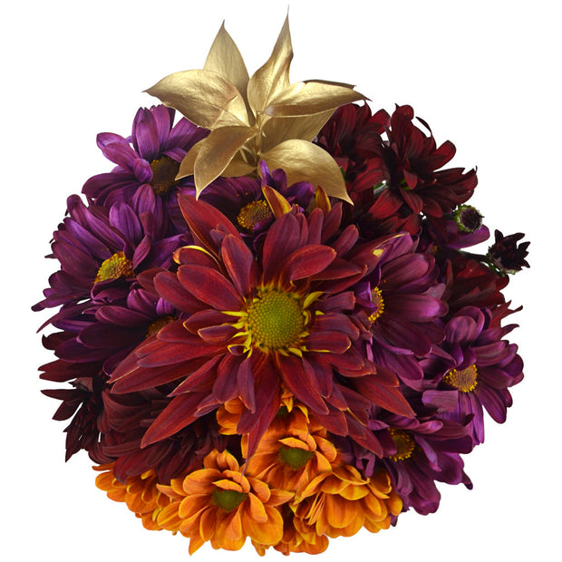 Thanksgiving flower poms