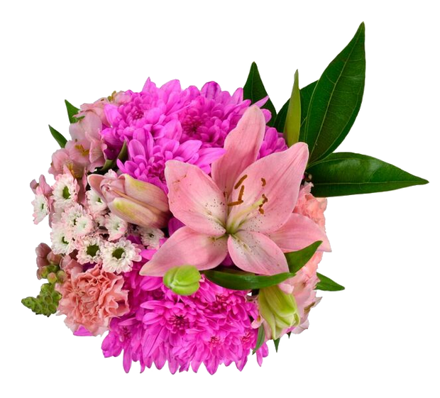 Breast Cancer 12 stem Mixed bouquet