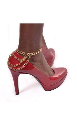 Ankle Chain For Heels In Gold or Silver - Shop for You Boutique