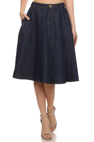 Dark Denim Skirt - Shop for You Boutique