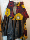 OneSize Plus Size Detachable African Print Skirt With Train