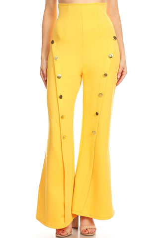 High-Waist Pants - White or Yellow