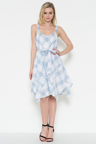 CHECKER PATTERN HANDKERCHIEF DRESS - Shop for You Boutique