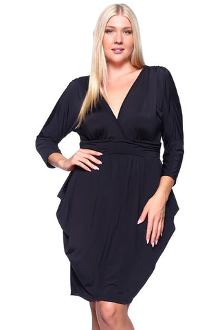 Black Harem Dress With Long Sleeve