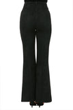 Black Faux Suede Pants Set