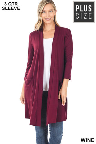 Wine Cardigan - Plus