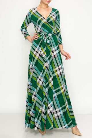 Green Plaid Maxi - Regular and Plus