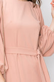 Blush/Pink Dress With Bell Pepper Sleeve
