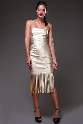 Gold Fringe Dress - Shop for You Boutique