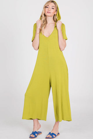 Lime Hooded Jumpsuit