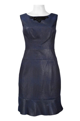 Navy Blue Snakeskin Mermaid Dress