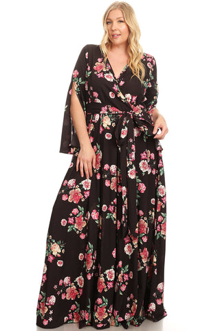 Black Open Sleeve Maxi - Plus
