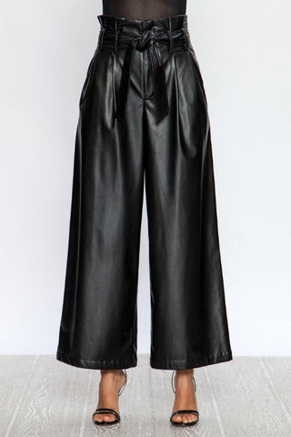 Faux Leather Sack Pants