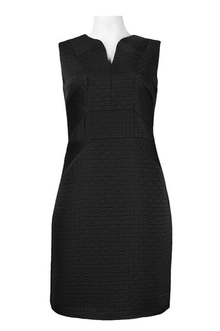 Black Quilted Sheath Dress