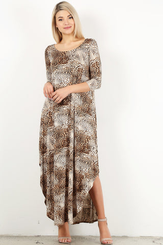Leopard Maxi With Side Slits