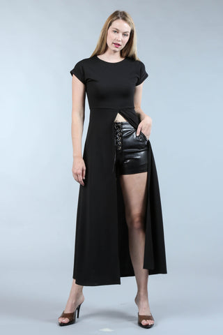 Black Tunic With Front Split