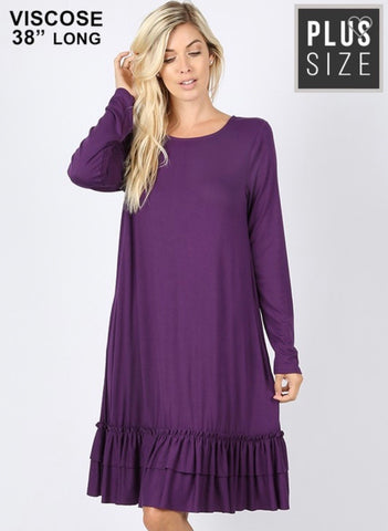 Plus Purple Baby Doll Dress