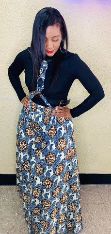 Ankara Palzzo Pants - One Size With Head Wrap
