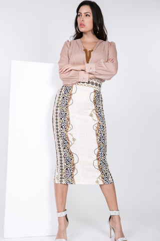 Chain Link Pencil Skirt