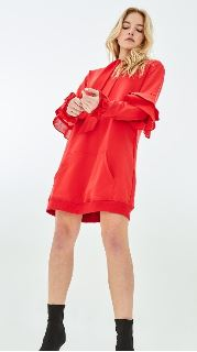 Red Hooded Dress