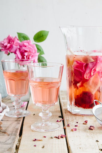 Wallflower Girl UK - Rose, Lemon, Strawberry infused water