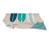 Surf Boards Coastal Throw (Teal, Ocean, Linen & Ivory)