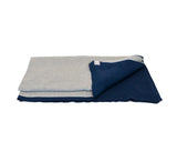 Cotton Coastal Throw in Aluminum & Marine