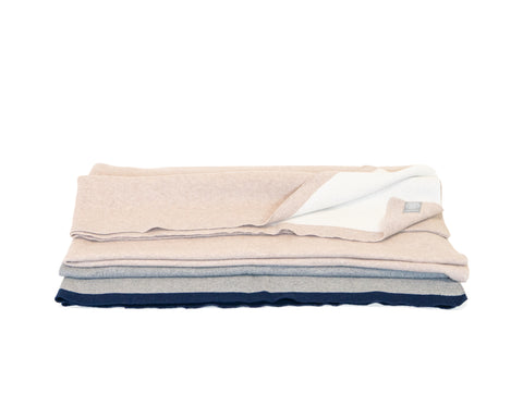 Cotton Coastal Throw in Ivory & Sand