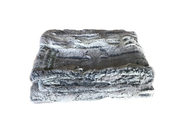 Plush Grey Foxy Nursery Blanket