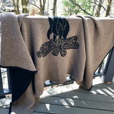 Cabin Throw in Taupe and Black