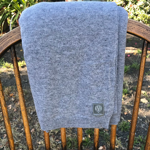 100% Cashmere Wrap (No Travel Needed) in Stone Grey