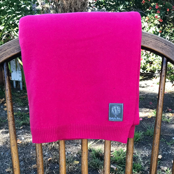 100% Cashmere Wrap (No Travel Needed) in Pink Peony