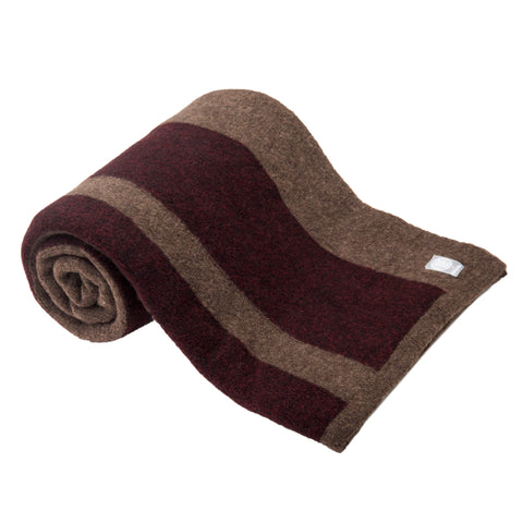 Wool Yak Wrap in Tobacco