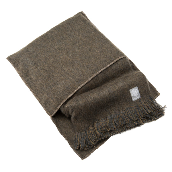 Luxury Alpaca Shawl/Wrap with Case in Taupe