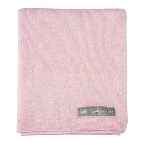 Cashmere Baby Blanket in Pale Pink