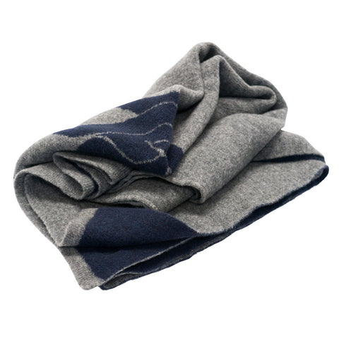 Cabin Throw in Navy & Grey