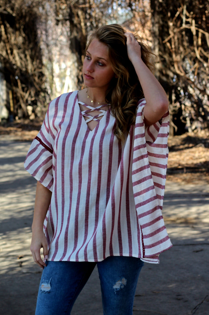 Blushing Beauty Tunic- Rose