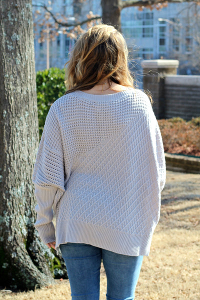 Daytime Adventure Sweater- Silver