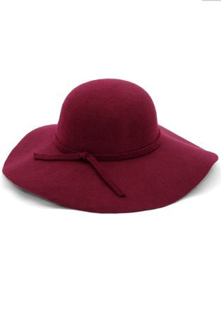 Felt Floppy Hat-Burgundy - Arabella Boutique - 1