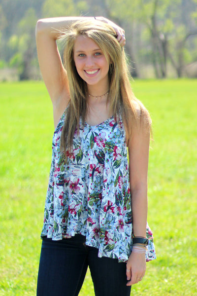 Arabella Boutique Field of Flowers Tank Front