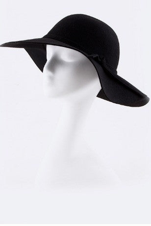 Felt Floppy Hat- Black - Arabella Boutique - 2