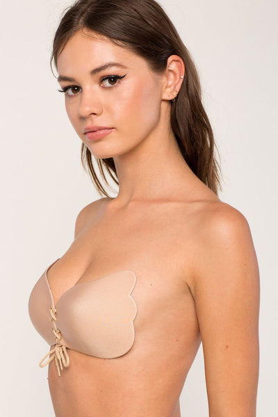 Lace-Up Free Bra- Beige