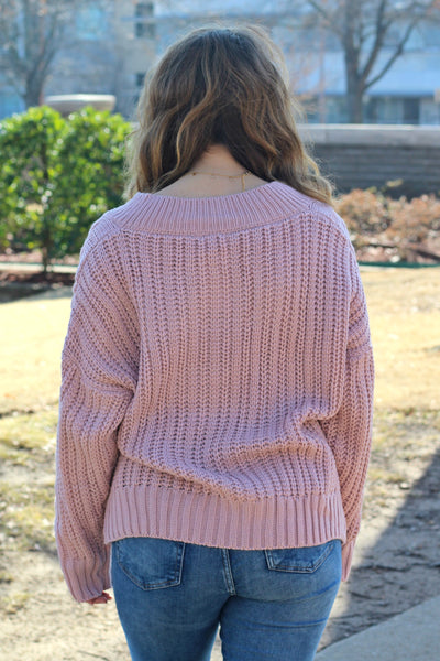 Latest and Greatest Sweater- Mauve