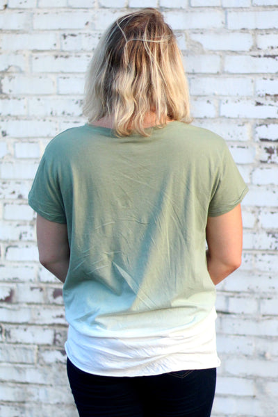 The Ombre Effect Top Back