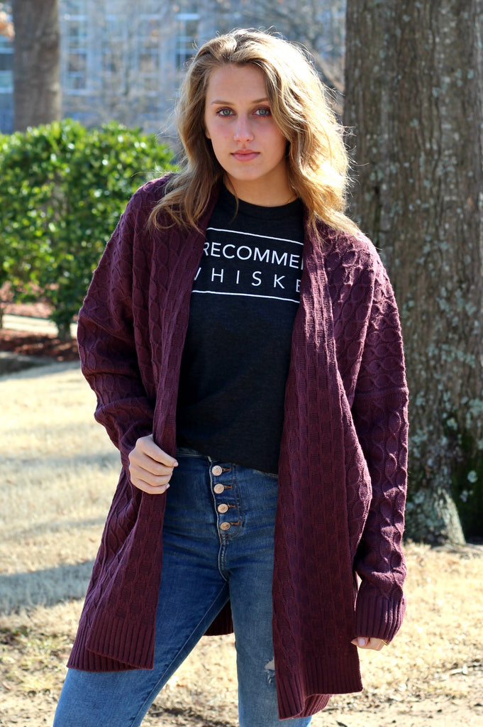 SALE- Wishful Thinking Cardigan- Red Bean