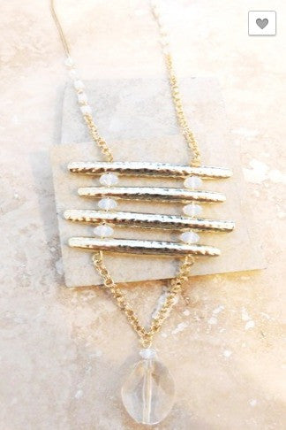 Crystal Clear Necklace- Clear