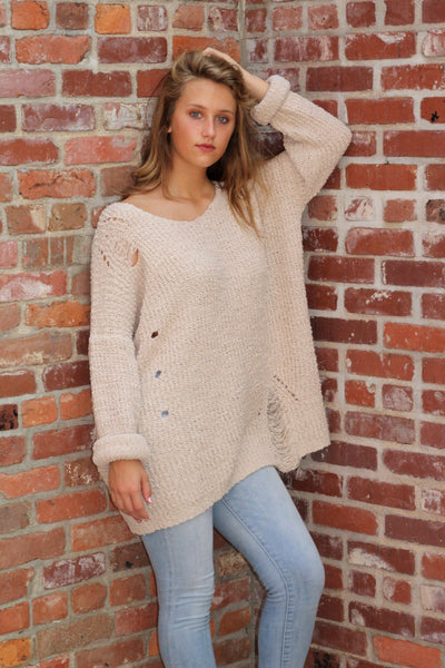 It's the Details Sweater- Stone
