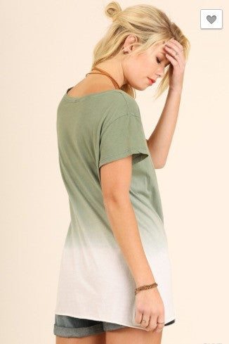SALE- The Ombre Effect Top- Olive