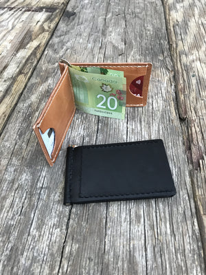 Handmade Leather Wallets, Money Clip Wallets