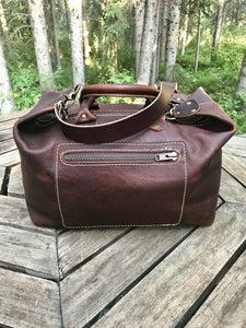 Handmade Leather Bags, Mid Sized Weekender- 4 colours